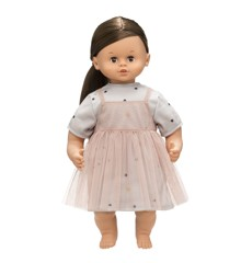 Skrållan - Talking doll with brown hair, 45 cm (16-1113-00)