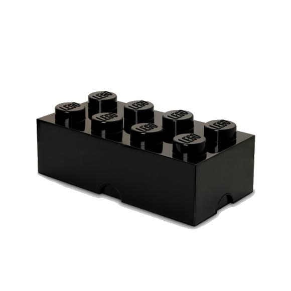 Room Copenhagen - LEGO Opbevaringskasse Brick 8 - Sort