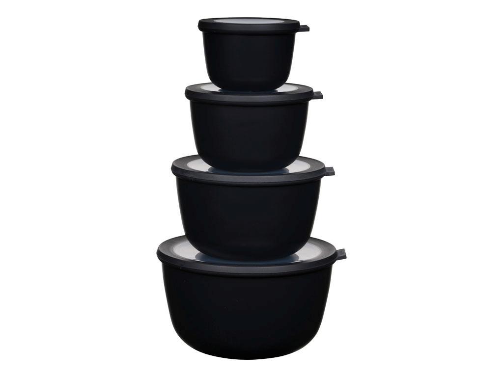 Rosti Mepal - Cirqula High Bowl Set Of 4 - Nordic Black (233114)