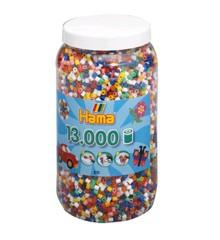 HAMA Perler - Midi -  13.000 perler i dåse - Solid Mix