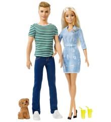 Barbie - Ken og Barbie med Hund