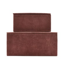 House Doctor - Suede Storage Boxes Set of 2- Henna (Sk1451)