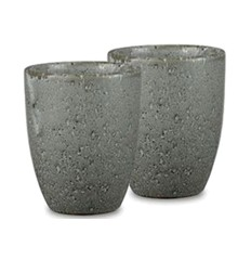 Bitz – 2 x Mug Ø8 cm – Grey - (Bundle)