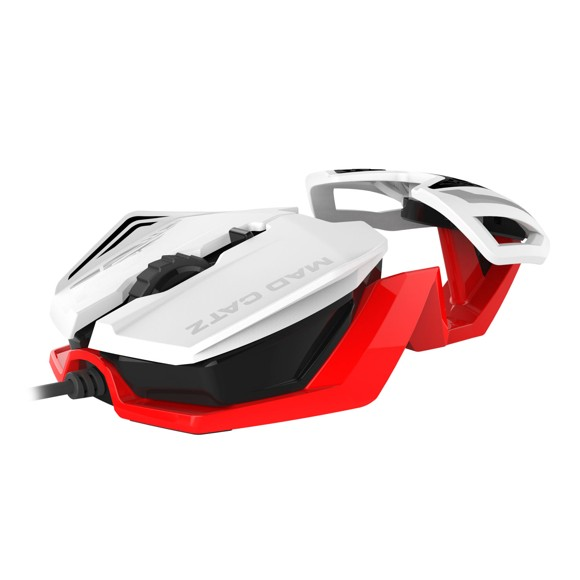 Mad Catz R.A.T.1 Gaming Mouse (White-Red)