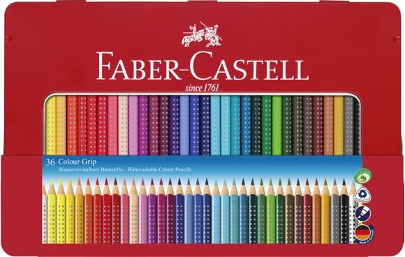 Faber-Castell - Colour GRIP farveblyant, tinæske med 36 stk (112435)