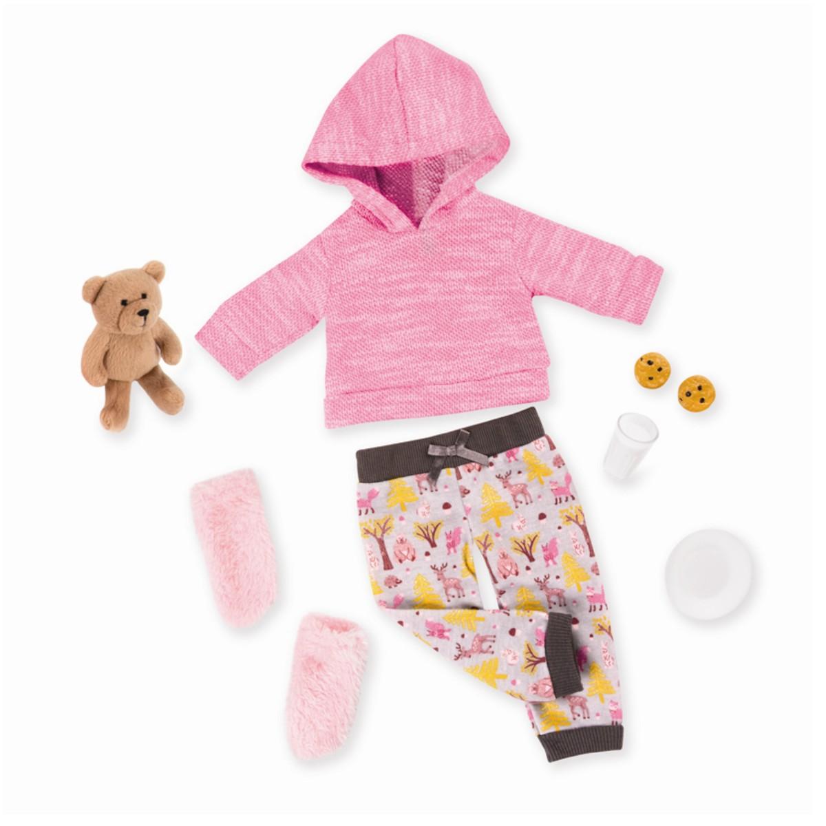 Our Generation - Deluxe Kleidung, Schlafanzug mit Teddy (730327)