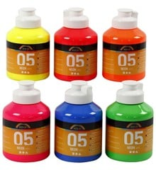 A-Color - Acrylverf - Neon - (6 x 500 ml)