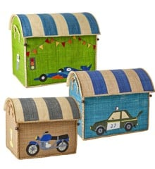 Rice - Large Set of 3 Toy Baskets - Race Car Theme