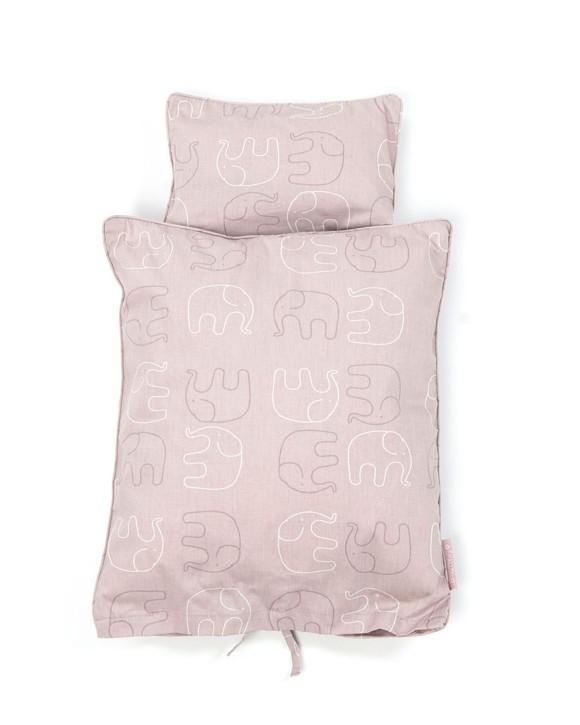 Smallstuff - Doll Bedding - Rose Elephant