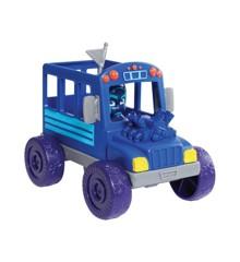 Pyjamasheltene - Køretøj og figur Legesæt - Night Ninja Bus