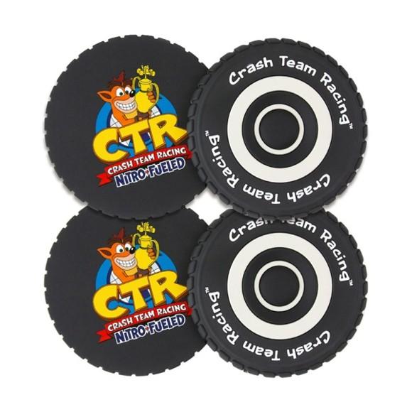 Crash Team Racing Tyre Coasters (4 Pack)