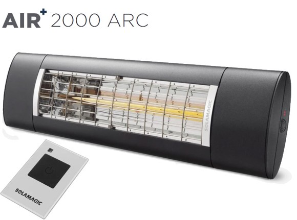 Solamagic - AIR+ 2000 ARC Patio Heater Anthracite - New