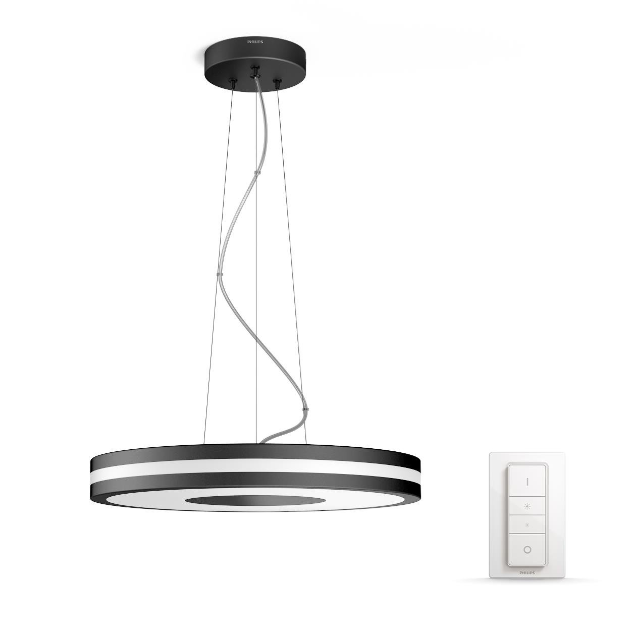 Philips Hue - Being  Pendant Lamp Black (Dimmer Included) - White Ambiance - E