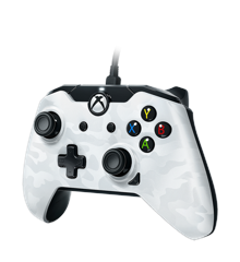 PDP Deluxe Wired Controller White Camouflage
