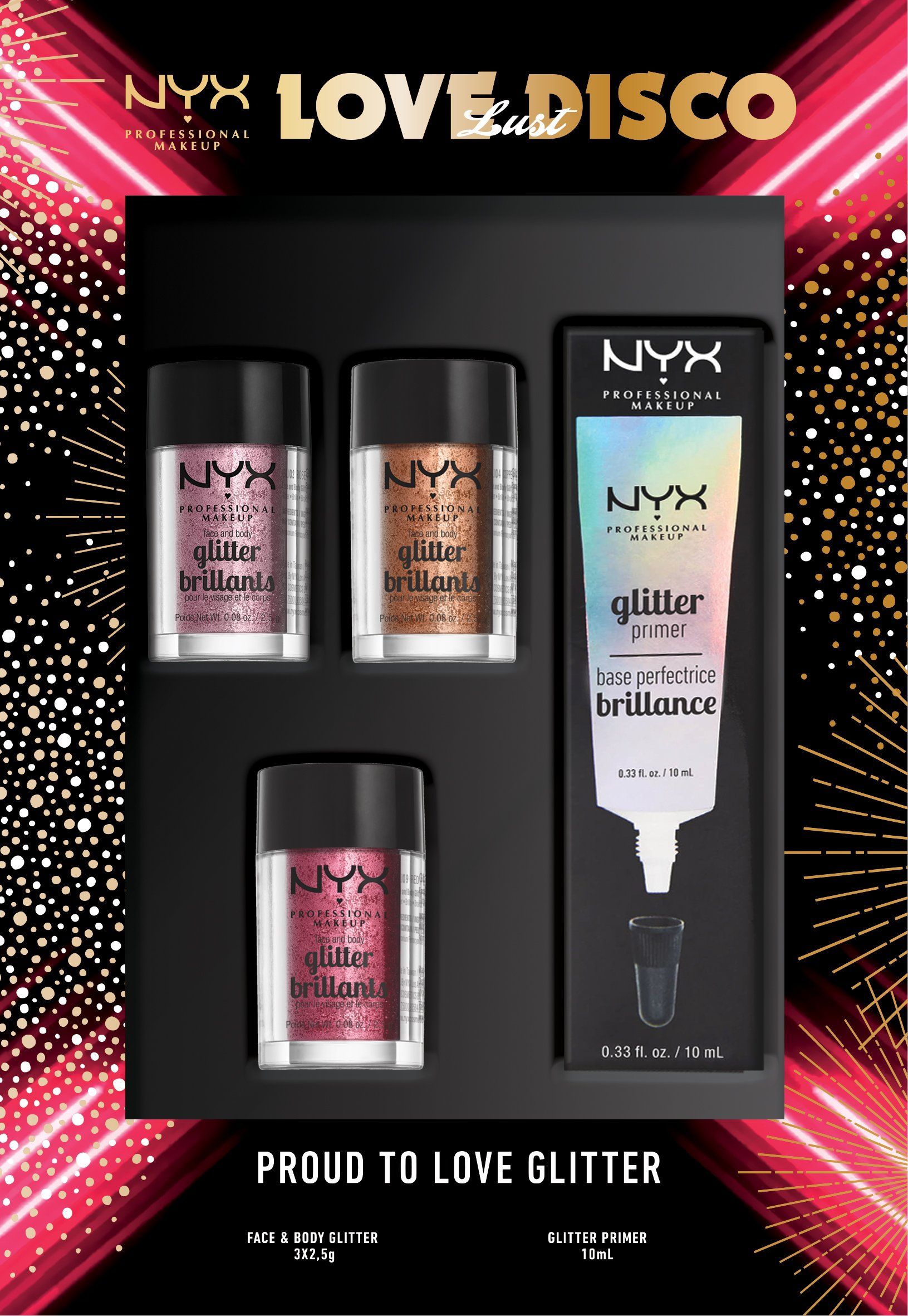 NYX Professional Makeup - Glitter Set - Love