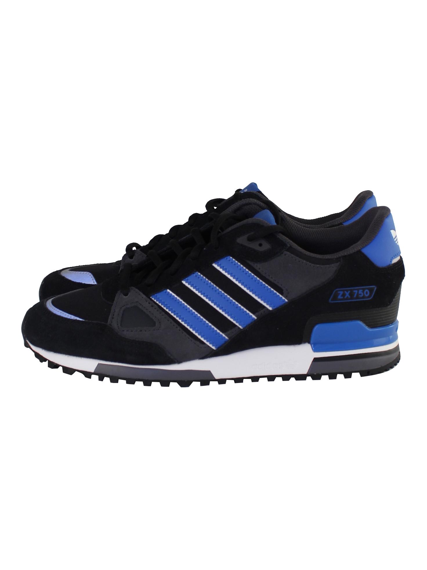 Buy Adidas 'ZX 750' Sneaker - Black / Blue