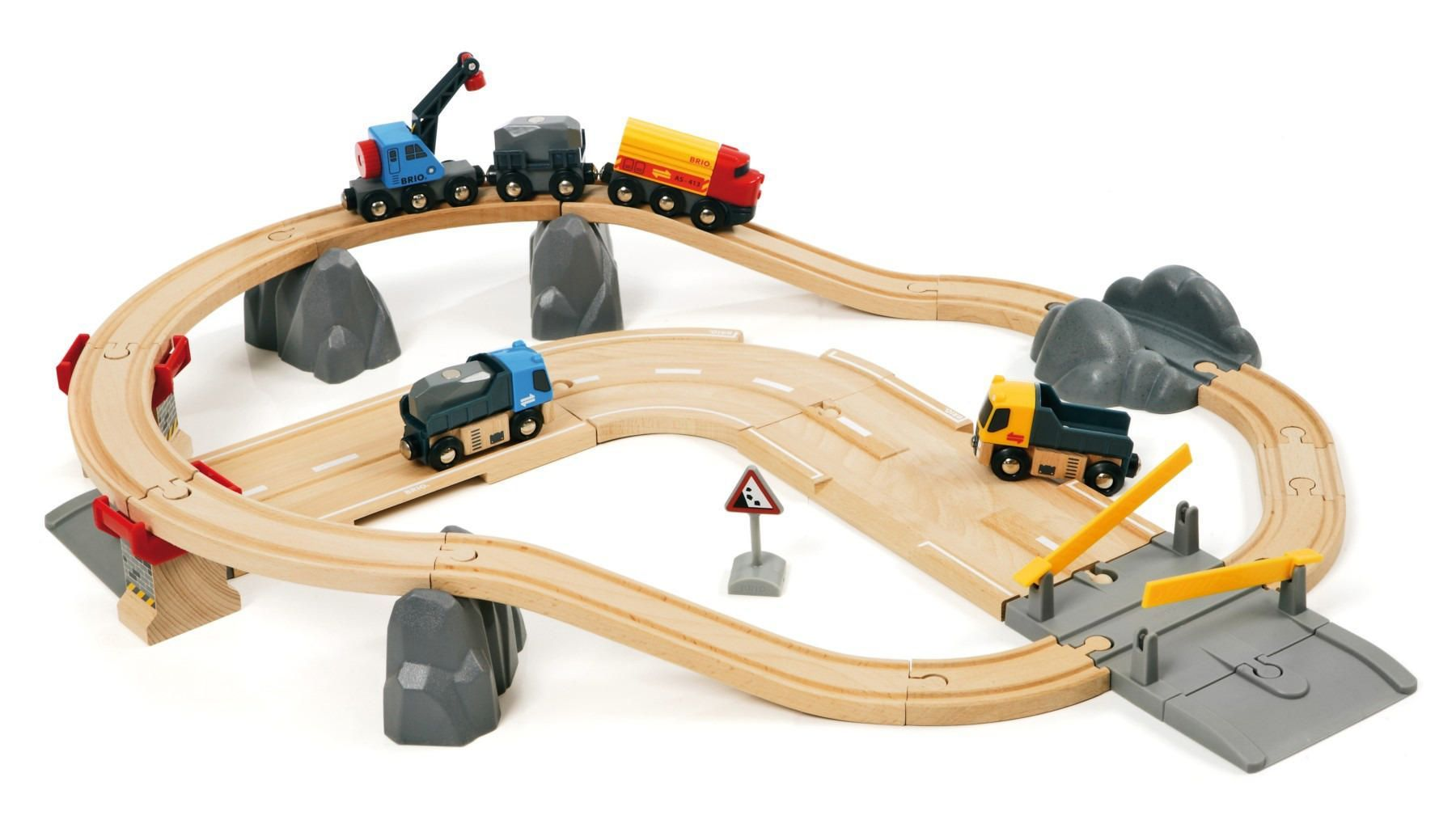 BRIO - Straßen und Schienen Kran Set (33208)