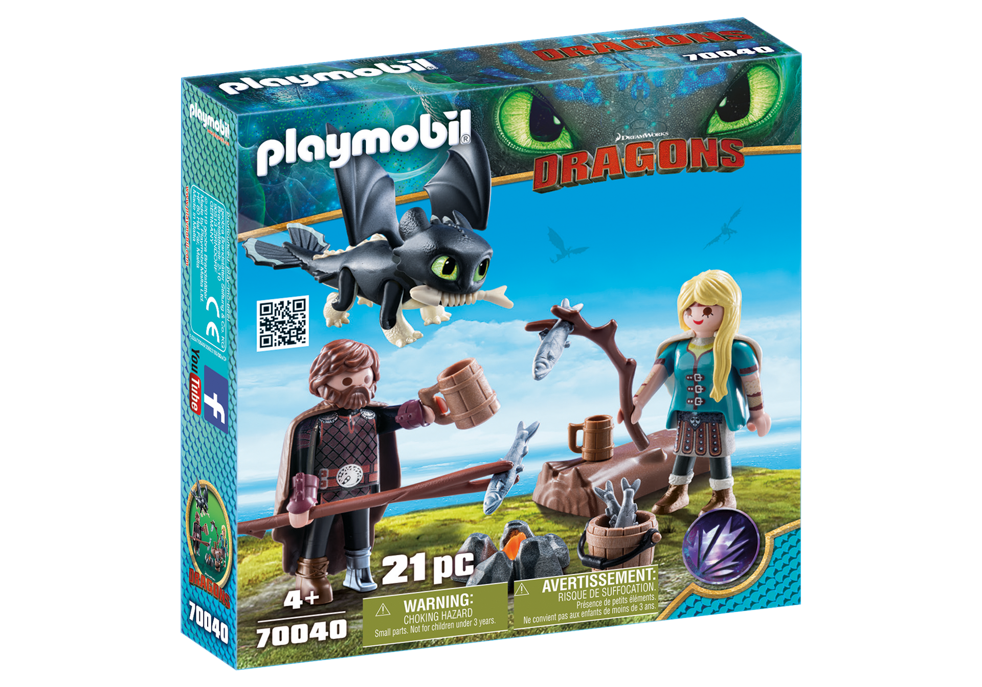 Playmobil - Hiccup and Astrid Playset (70040)