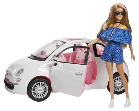 Barbie - Fiat 500 including Barbie Doll (FVR07)