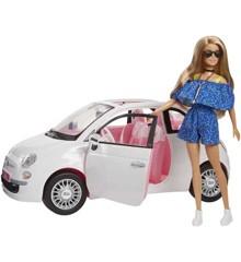Barbie - Fiat 500 med dukke (FVR07)