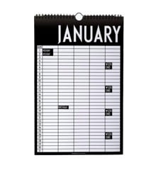 ​Design Letters - Monthly Planner Kalender 2020 - Sort