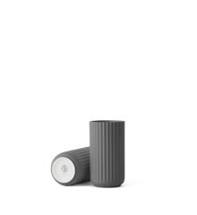 Lyngby Porcelæn - Vase 15 cm - Mørk Grå