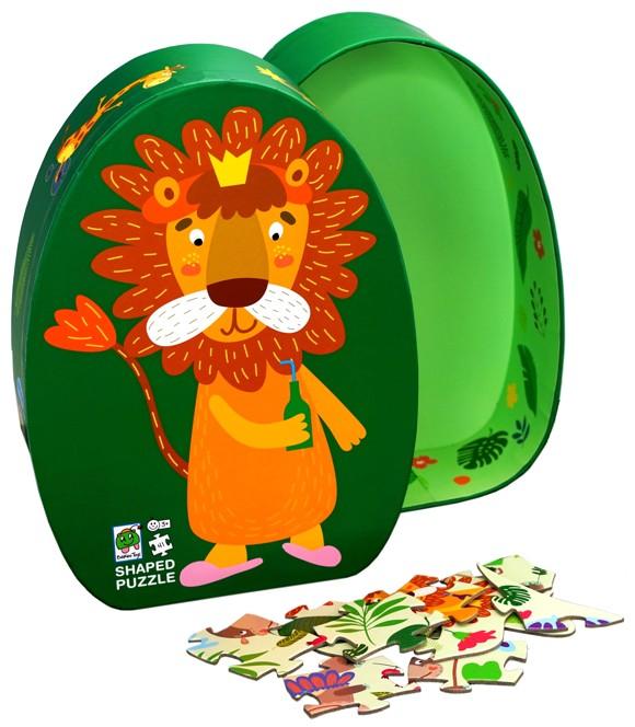 Barbo Toys - Deco Puslespil - Løve (41 brk.)