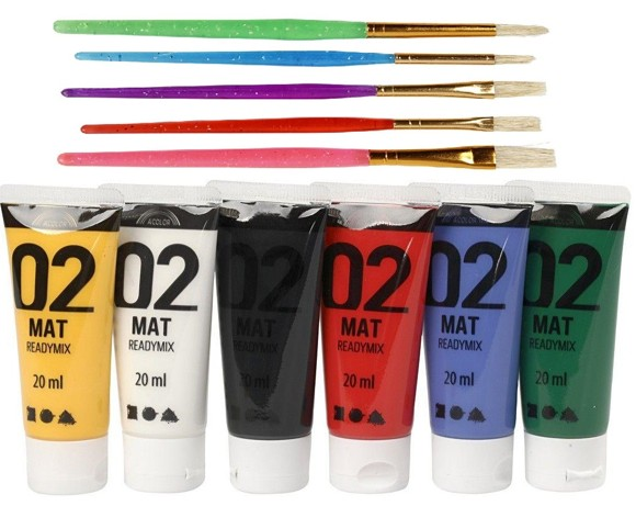 A-Color - Mat Colors and  Kids Paint Brushes