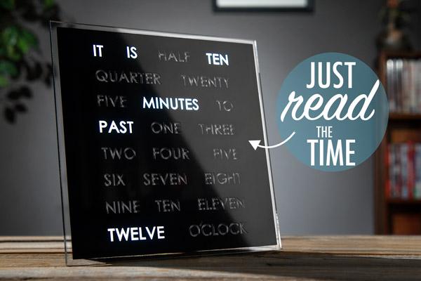 Buy Peers Hardy Black Light Up Word Clock