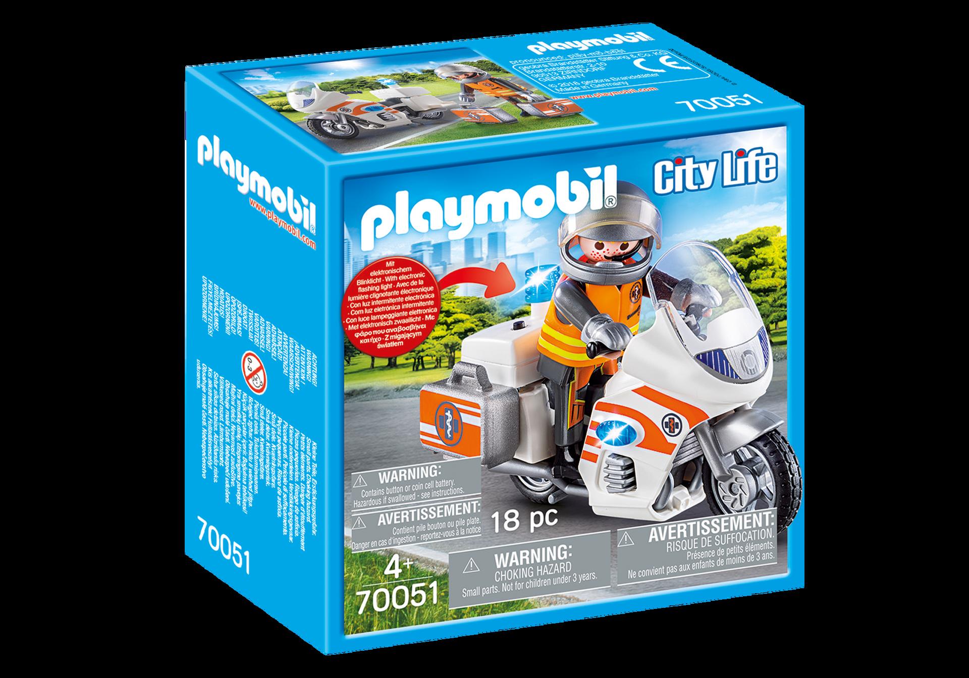 Playmobil - Emergency Motorbike (70051)