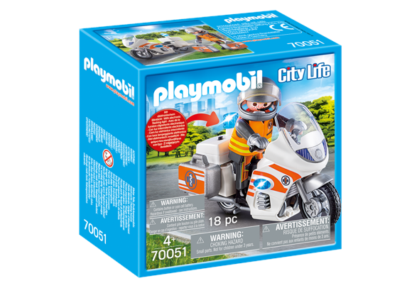 Playmobil - Emergency Motorbike (70051)