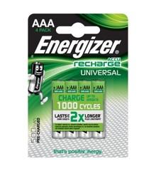 Energizer - Genopladeligt Batteri AAA/LR03 Ni-Mh 500 mAh 4-Pak