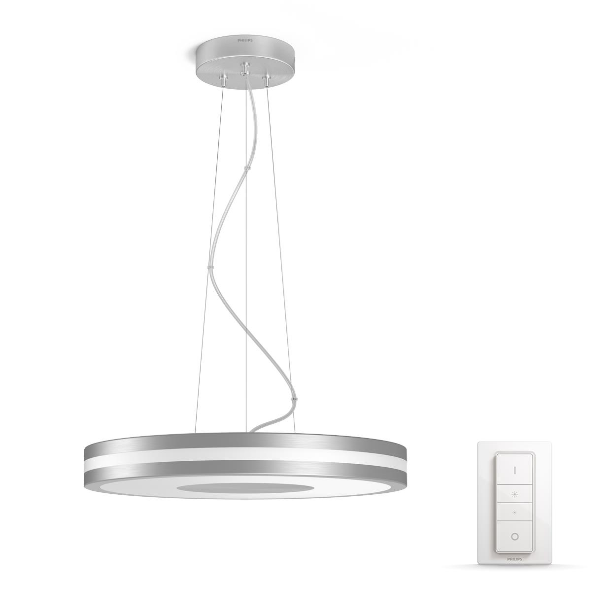 Philips Hue - Being Pendant Lamp Silver (Dimmer Included) - White Ambiance - E