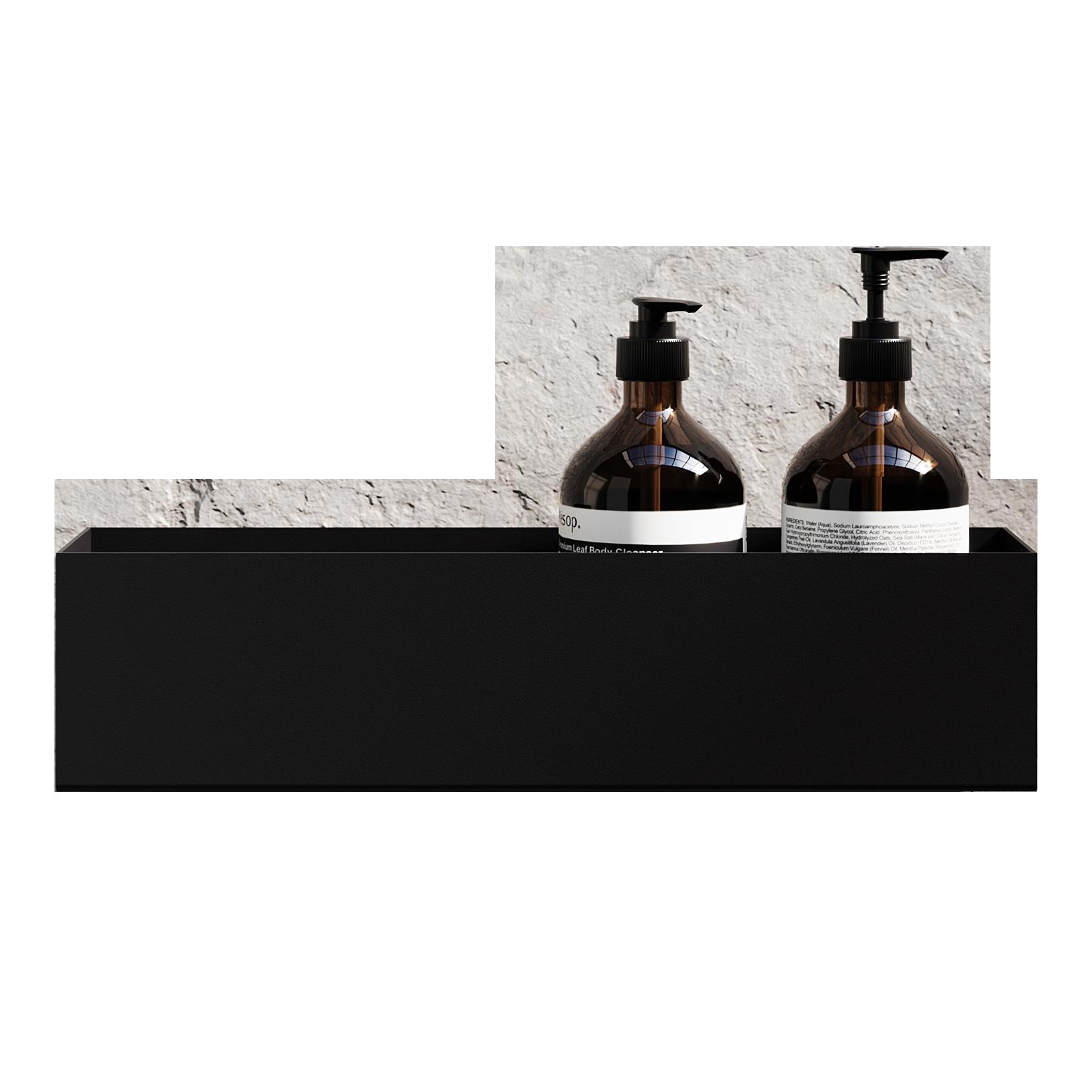 Nichba-Design - Badregal 40 Aufbewahrungsregal - Schwarz