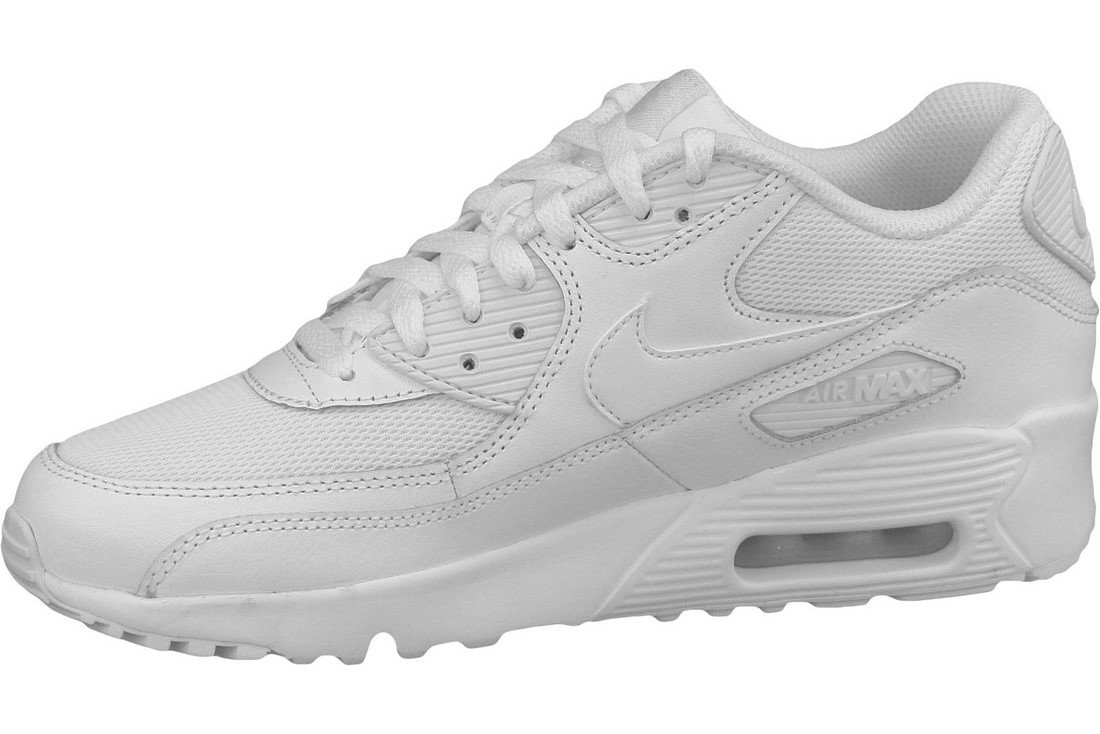 Köp Nike Air Max 90 Mesh Gs 833418 100, Kids, White, sneakers