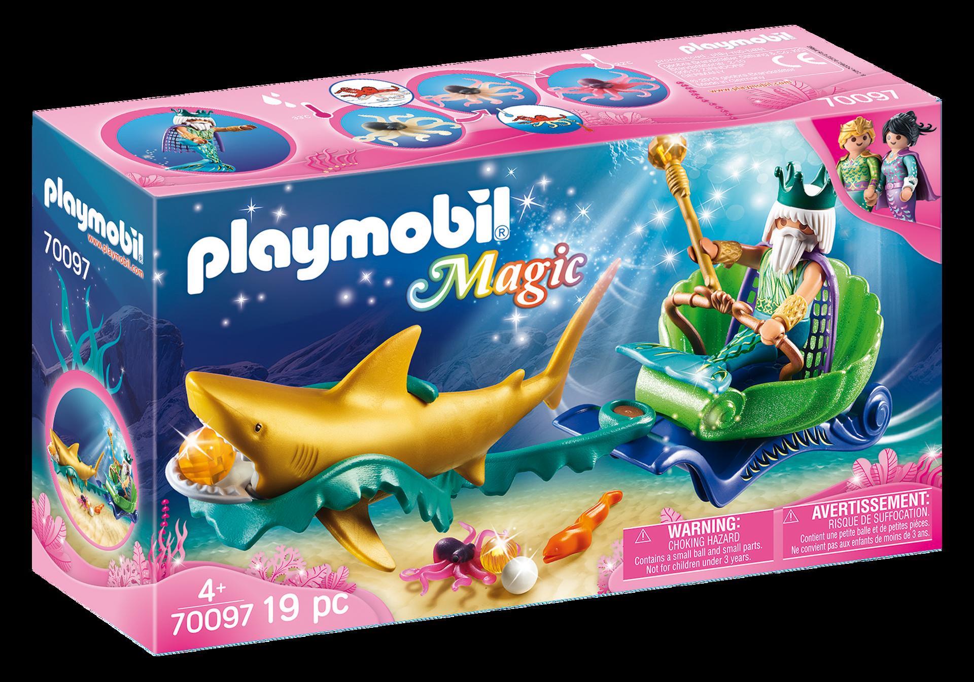 Playmobil - Magic - Triton with Shark Carriage (70097)