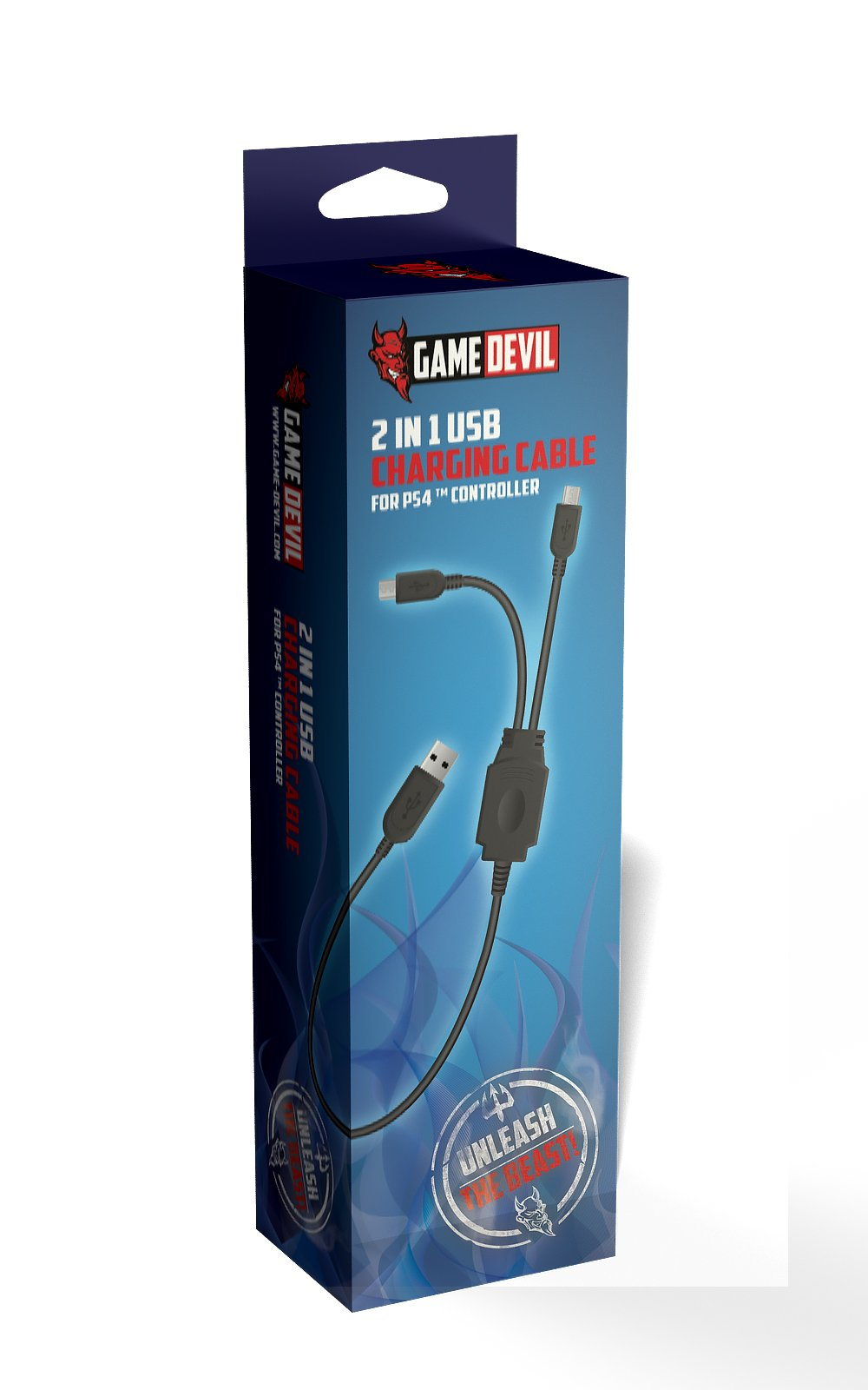 Game Devil 2 in 1 USB Charging Cabel