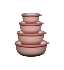 Rosti Mepal - Cirqula Low Bowl Set Of 4 - Nordic Blush (233105)