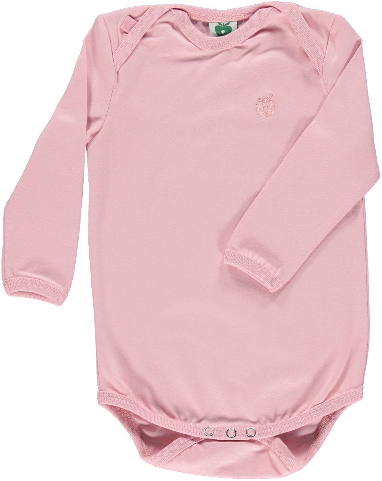 Småfolk - Organic Basic Longsleved Body - Silver Pink