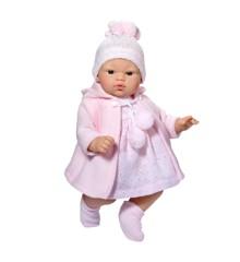Asi dolls - Koke dukke i rosa frakke, 36 cm
