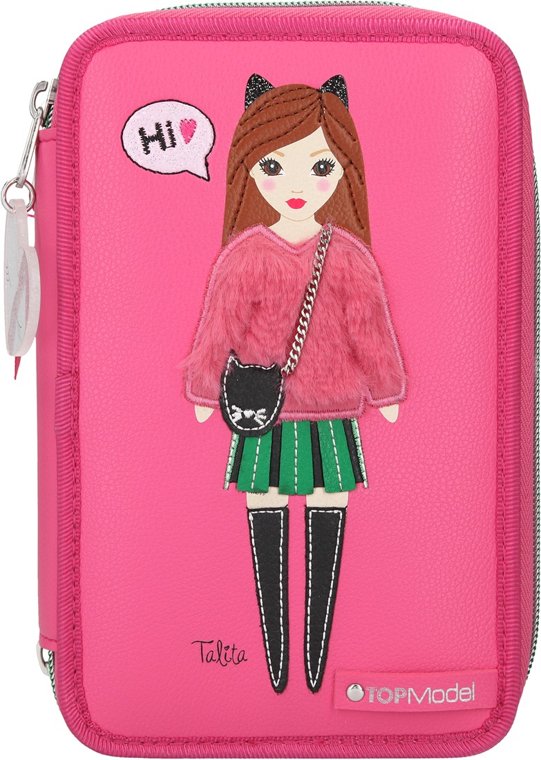 Top Model - Trippel Pencil Case-  Talita Pink (0410729)