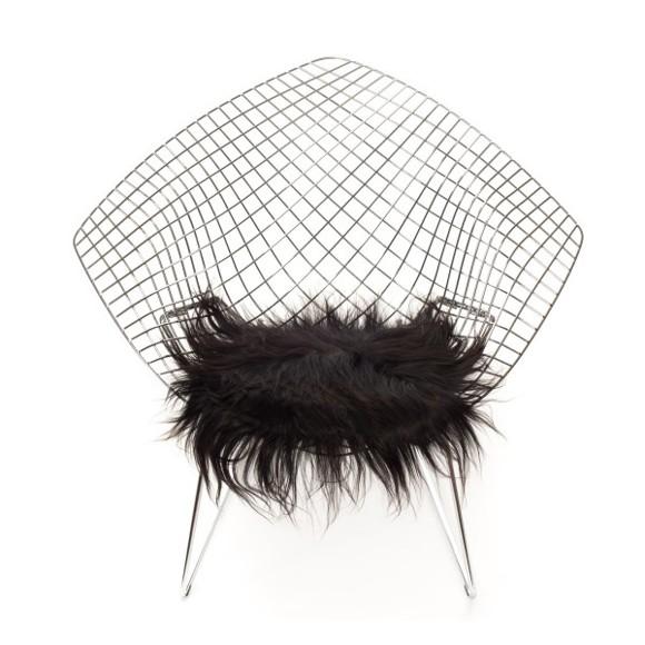 The Organic Sheep - Chair Pad Longhair 40 x 40 cm. - Black