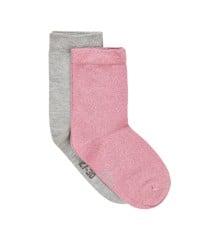 MINYMO - 2 pk Ankle Sock w. Lurex