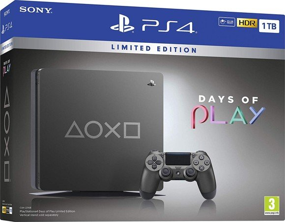 Days of Play Limited Edition Steel Black 1TB PS4