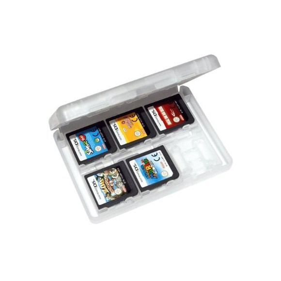 ZedLabz game case for Nintendo 3DS 2DS DS 24 in 1 card holder storage box - White
