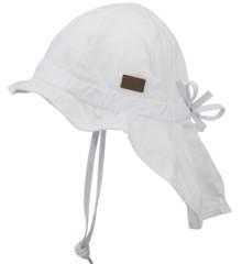 Melton - Hat w/Neck & Bow UPF30+ - White (510001-100)