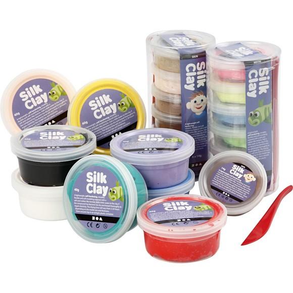 Silk Clay - Ass. Farger - 22 Bokser