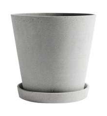 HAY - Flowerpot w/saucer XXL - Grey
