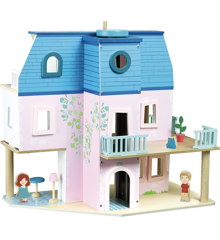 Vilac - Dukkehus med møbler og dukker (6316)