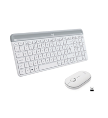 LOGITECH Slim Wireless Keyboard and Mouse Combo MK470 - OFFWHITE - NORDIC